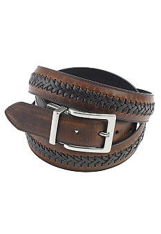 Columbia Big & Tall  Oil Tan Leather Casual Belt