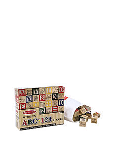 Melissa & Doug® Wooden ABC/123 Blocks