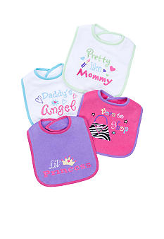 Nursery Rhyme 4 Pack Fashion Bibs