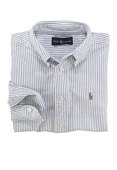 Ralph Lauren Childrenswear Stripe Oxford Shirt - Boys 8-20