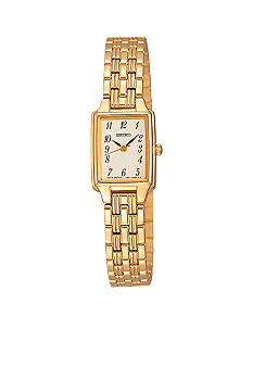 Seiko Ladies Dress Gold-Tone Watch