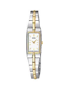 Seiko Ladies Two-Tone White Dial Watch