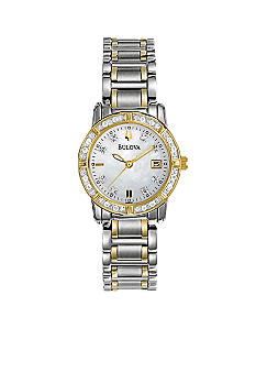 Bulova Ladies Two-Tone with Diamonds Watch