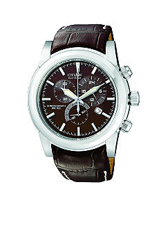 Citizen Men's Stainless Steel Brown Strap Watch