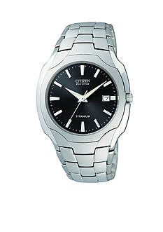 Citizen Men's Titanium Round Dark Gray Dial Watch