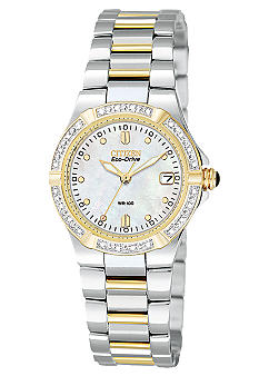Citizen Ladies Eco Drive Riva Two Tone Bracelet Watch