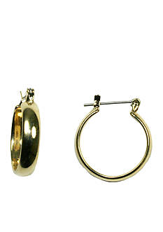 Napier Medium Gold Hinge Hoop Earring