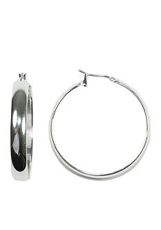 Napier Silver-Tone Hoop Earring