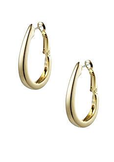 Napier Gold Hoop Pierced Earrings