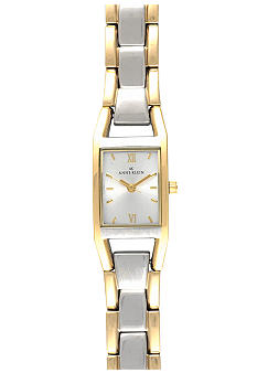 Anne Klein Women's Two Tone Tank Watch