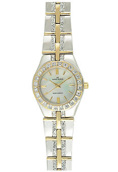 Anne Klein Women's Two-Tone Watch with Crystals