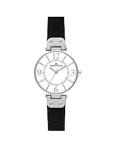 Anne Klein Silver Tone Round Case Watch