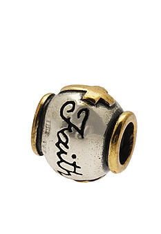 Belk Silverworks Two Tone Faith with Cross Originality Bead