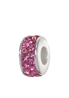 Belk Silverworks Pink Pave Crystal Originality Bead