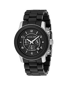 Michael Kors Men's Black Poly watch