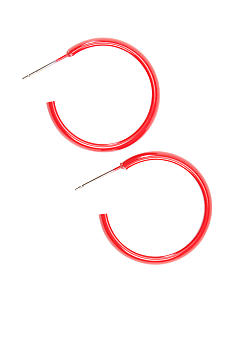 Kim Rogers Medium Red Hoop