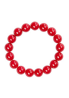 Kim Rogers 14-mm. Red Bead Bracelet