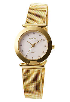 Skagen Women's Classic Gold Mesh Watch