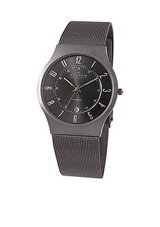 Skagen Men's Titanium Gray Watch on Mesh band