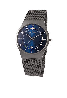 Skagen Men's Brushed Titanium Case