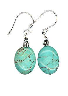 Belk Silverworks Turquoise Bead Drop Earring