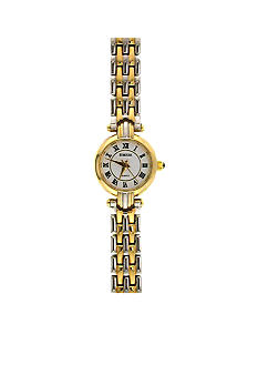 Kim Rogers Women's Roman Numeral Two Tone Link Watch