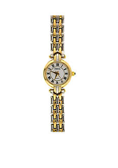 Kim Rogers Women's Roman Numeral Two-Tone Link Watch