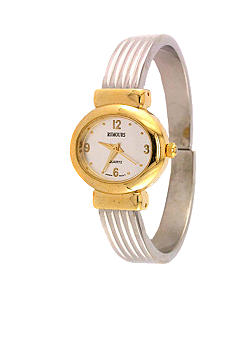 Kim Rogers Women's Two-Tone Ridged Cuff Watch