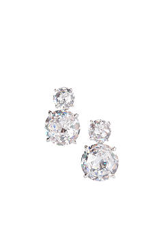 Nadri Double Cubic Zirconia Clip Earrings