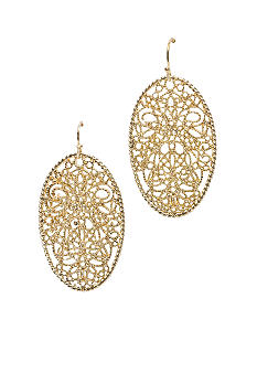 New Directions Drop Gold Oval Earring