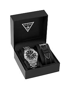 GUESS Men's Multi-Function Watch with Interchangeable Strap