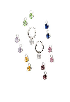 Belk Silverworks Cubic Zirconia Earrings Interchangeable Jewelry