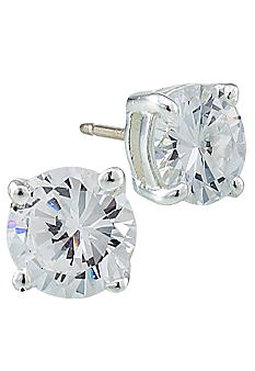 Carolee Round Cubic Zirconia Sterling Silver Earrings