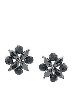 Carolee Diamond Shaped Jet Button Earring
