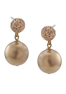 Carolee Gold-Tone Standard Double Drop Earring