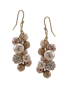 Carolee Gold Standard Cluster Drop Earring