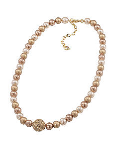 Carolee Gold Standard Strand Necklace