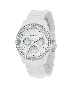 Fossil Ladies White Plastic Watch