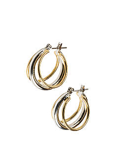 Kim Rogers Sensitive Skin Two Tone Hoop Earrings
