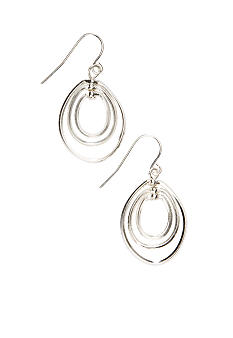Kim Rogers Sensitive Skin Silver Oval Drop Earring