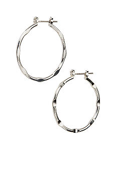 Kim Rogers Sensitive Skin Medium Silver Textured Hoop