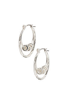 Kim Rogers Sensitive Skin Silver Double Drop Hoop