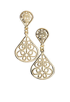 Kim Rogers® Sensitive Skin Gold Filigree Teardrop Earring