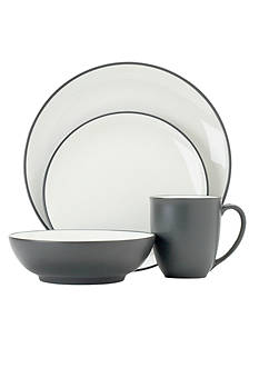 Noritake Colorwave Graphite 4-Piece Place Setting