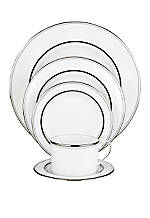 Library Lane Platinum Dinner Plate