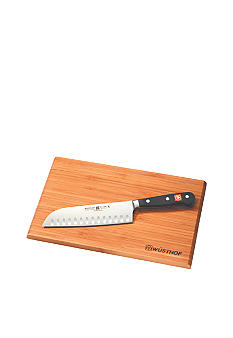 Wusthof Classic 2-Piece Santoku Knives Set with Cutting Board