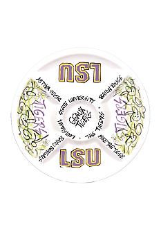 Magnolia Lane LSU Divided Veggie Plate