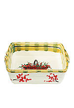Old st. Nick Santa Square Baking Dish