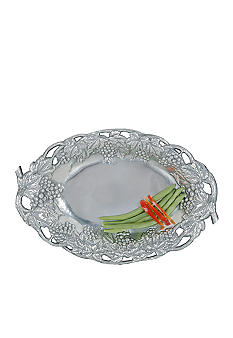 Arthur Court Grape Oval Tray with Fretwork