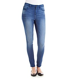 Suede Hi-Rise Skinny Jeans